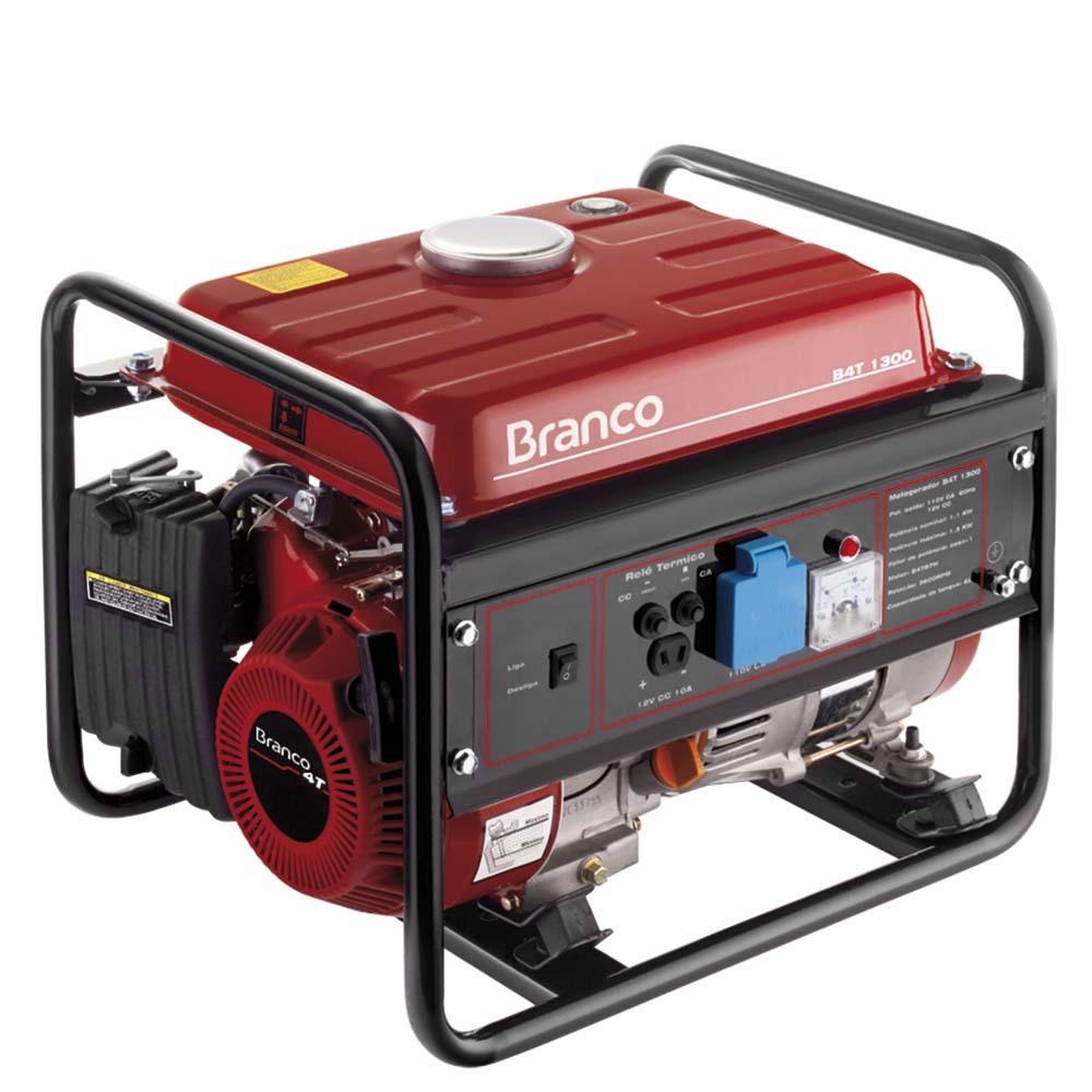 7c521789ecb Gerador de Energia à Gasolina Branco 1.3 KVA - B4T 1300 110V